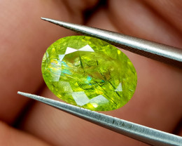 3.52Crt Green Sphene Color Change Natural Gemstones JI94