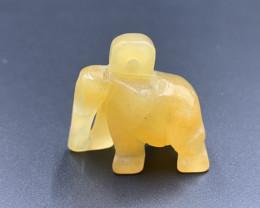 60.35 Cts Beautiful Hand Carved Burmese Jade Elephant. Je-693