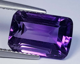 5.23 ct  Top Quality Gem Octagon Cut Natural Purple Amethyst