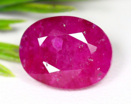 Red Ruby 11.63Ct Oval Cut Natural Mozambique Red Ruby A1707