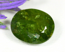 Grossular 5.20Ct Oval Cut Natural Russia Grossular Green Garnet A1716