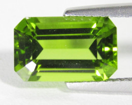 4.00Cts Genuine Excellent Natural Peridot Emerald Cut Loose Gemstone