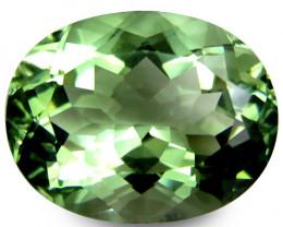 9.97Cts Stunning Natural Green Amethyst (prasiolite) Oval Shape Loose Gem