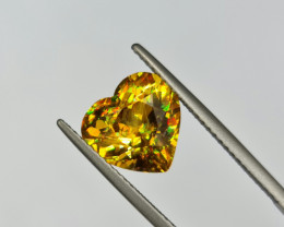 RARE 3.98 CTS TOP GLOWING AAAA FIRES TOP QUALITY IMPERIAL SPHENE