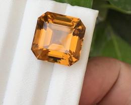 HGTL Certified 15.57 Carats Natural Citrine Nice Cut Gemstone