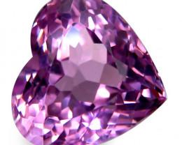18.68Cts Natural Stunning Hot Pink Kunzite Heart Shape Loose Gemstone
