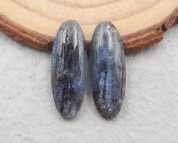 D2970 -15.5cts 2pcs Blue Kyanite Cabochons,Healing Crystals,Protection Crys