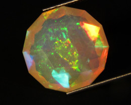 3.12Cts Natural Extremely Unheated Yellow White Opal Round Custom Cut