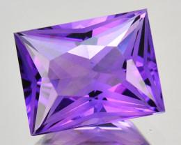 3.26 Cts Genuine 100% Natural Amethyst Princess Shape Custom Cut REF VIDEO