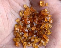 50 Ct Orange Garnet Rough Parcel 100% NATURAL AND UNTREATED VA2701