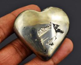 Genuine 489.00  Cts   Pyrite Druzy Heart