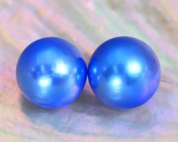 Akoya Pearl 7.7mm 6.42Ct Natural Akoya Blue Pearl B1827