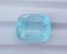 Natural Blue Aquamarine Faceted Gemstone