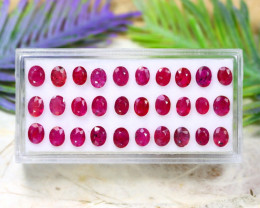 Red Ruby 6.96Ct Oval Cut Natural Mozambique Red Ruby Lot C1802
