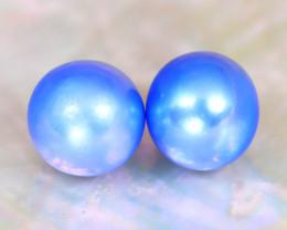 Akoya Pearl 7.6mm 6.23Ct Natural Akoya Blue Pearl C1819