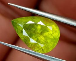 3.55Crt Green Sphene Color Change Natural Gemstones JI95