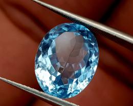 6.45Crt Blue topaz Natural Gemstones JI95