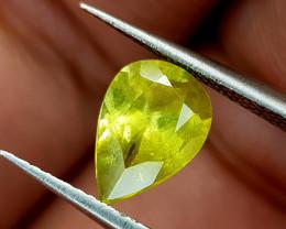 1.12Crt Green Sphene Color Change Natural Gemstones JI95