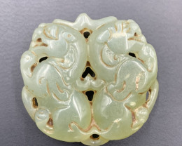 305.15 Cts Amazing Hand Carving Excellent Old Jade.