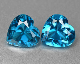 London Topaz 2.76 Cts 2Pcs Fancy Blue Natural Gemstones - Pair