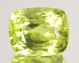 6.80 Cts Beautiful Natural Chrysoberyl Green Cushion Cut Sri Lanka