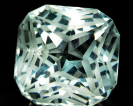 ~CUSTOM CUT~ 6.07 Cts Natural Prasiolite / Amethyst Fancy Cushion Brazil~CU