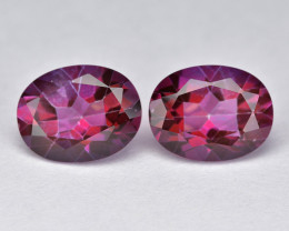 Hot Pink Topaz 4.61 Cts Rare Fancy Color Natural Gemstone - Pair
