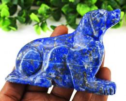 Genuine 923.00 Cts  Denim Blue Lapis Lazuli Dog