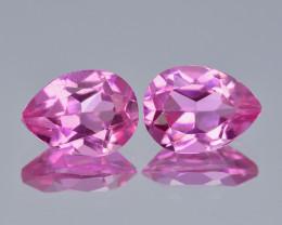 Pink Topaz 2.65 Cts 2 Pcs Rare Fancy Pink Color Natural Gemstone- Pair