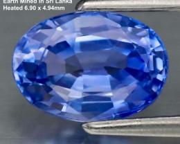 1.06ct VVS1 Ceylon Blue Sapphire - Heated / 6.90x4.94mm
