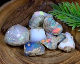 Welo Rough 127Ct Natural Ethiopian Rainbow Flash Opal Rough B1930