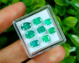 Zambian 4.52Ct 8Pcs Natural Green Zambian Emerald C1917