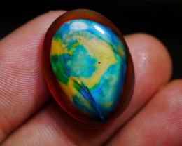 21.25 CT Beautiful Abstract Picture Indonesian Chalcedony Agate