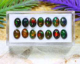 Opal 7.52Ct Natural Flash Color Ethiopian Welo Black Smoked Opal B2005