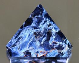 Pietersite 40.03Ct Trillion Cut Natural Namibia Meuve Blue Pietersite C2019