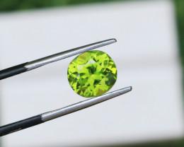 3.08 CTs Natural & Unheated ~ IGI Certified Green Peridot Gemstone