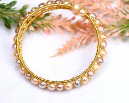74.69Ct Natural Freshwater Pearl Bracelet PBR005