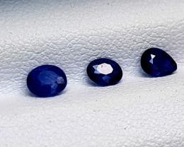 0.72CT BLUE SAPPHIRE HEAT BE BEST QUALITY GEMSTONE IIGC135