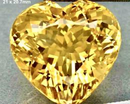 33.49ct VVS1 Golden Heart Citrine - Brazil / 21.0 x 20.7mm