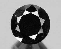 Black Diamond 1.66 Cts Natural Fancy 100% Black Diamond