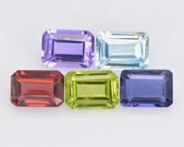 Semi-Precious 5.60 Cts 5 Pcs Mix Collection Natural Gemstone - Parcel