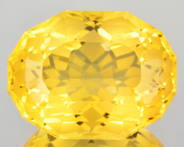 ~CUSTOM CUT~ 11.89 Cts Natural Golden Orange Citrine Fancy Cushion Brazil