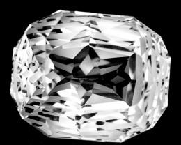~CUSTOM CUT~ 14.50 Cts Natural Prasiolite / Amethyst Fancy Cushion Cut Braz