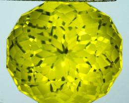 ~CUSTOM CUT~ 15.85 Cts Natural Lemon Quartz Fancy Round Brazil
