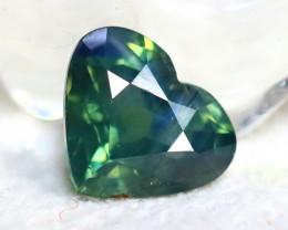 Unheated Sapphire 0.98Ct Natural Heart Shape Peacock Sapphire E2307/B9
