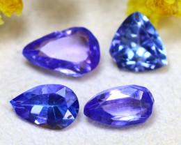 Tanzanite 3.38Ct 4Pcs Natural Purplish Blue Tanzanite E2316/D3
