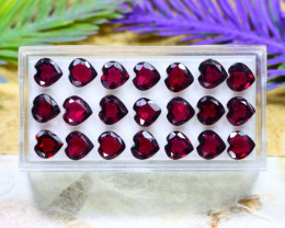 Rhodolite Garnet 17.39Ct Heart Cut Natural Rhodolite Garnet Lot A2201