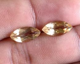 6x12mm Citrine Pair Natural Marquise Faceted Gemstone VA2765