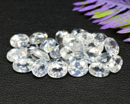 Zircon 20.88Ct Oval Cut Natural Cambodian White Zircon Lot A2219