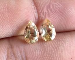 5x8mm Citrine Pair Natural Pear Faceted Gemstone VA2793